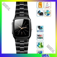 Wholesale Gold Black Watch Mobile Phone support java TW810 WEIL