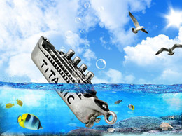 Wholesale hot sale scale1 Titanic white lion d ship model keyrings keychain collectibles