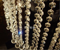 Wholesale crystal prism bead chain wedding garland christmas tree crystal hung strands strung