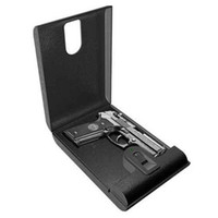Cheap security metal secure fingerprint flash drive safe box mini biometric gun pistol portable suitcase