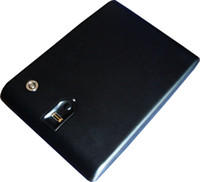 black gun safe - fingerprint safe mini secure box biometric gun security metal jewelry cabinet vault