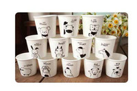 Wholesale Chinese Porcelain Mug - lovely animal Chinese Zodiac Snack cups Ceramic Eco Cup porcelain Mug Coffee Cup milk cup #1681