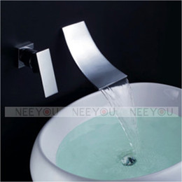 Wholesale HOT Sell Bathroom Wall Mounted Waterfall Basin faucet Luxury Bath Sink tap NY02761