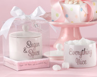 Wholesale quot Sugar Spice and Everything Nice quot Sugar Bowl Ceramic Salt pepper shakers Baby Shower Favor Gifts
