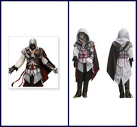 Wholesale Assassin s Creed Cosplay Costume Custom Made Ii Ezio Kids Cheap Party New Cosplay Outfit Full Set