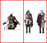 Wholesale Assassin s Creed Cosplay Costume Custom Made Party Cosplay Wear Gowns II Ezio Cosplay Full Set