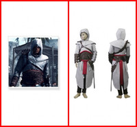 Wholesale Assassin s Creed Cosplay Costume Custom Made Party Wear Gowns Altair Kids Cosplay Full Set