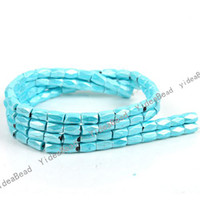 wholesale magnetic hematite beads - 96 Faceted Magnetic Hematite Skyblue Spacers Bead Fit Braclets Necklace DIY