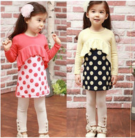 Wholesale 2012 Spring Autumn children s girls split joint skirt primer pants twinset suit two piece dress TZ12