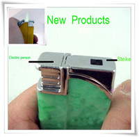 Wholesale New Novelty Electric Shock Plastic Decorative Cigarette Flame Butane Lighter Prank Jok