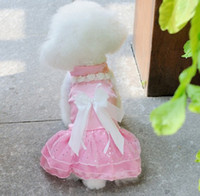 Wholesale New Pet clothing Pet summer clothing Pet Wedding dress princess dress pink white purple