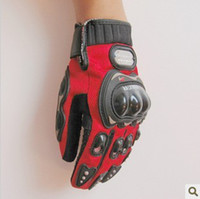 Wholesale Pro Biker Motorcycle Gloves Motor Riding Protective Glove Ventilation Black Red Blue M L XL XXL