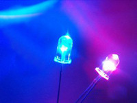 Wholesale 5mm Red Blue Flash Flashing Water Clear LED