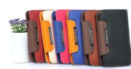 2017 teléfonos celulares casos de cuero Teléfono celular de Cuero funda para el GALAXY Note i9220 N7000 Portátil billetera con la tarjeta titular teléfonos celulares casos de cuero en oferta