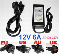 Wholesale 72W V A AC100 V Power Supply Adapter Charger for Laptops Notebooks EU US AU BS Plug Optional
