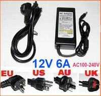Wholesale AC DC V W V A Power Supply Adapter Charger for LCD Laptops Notebooks LED strip plug have EU US AU BS