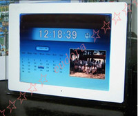 Wholesale 15 Inch Black amp White Acrylic Multimedia LCD Digital Photo Frame With Multifunction Sample DHL free