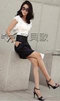 Wholesale 2014 NEW ARRIVAL Korean fashion women chiffon ruffle blouse short sleeve silk tops black white tops