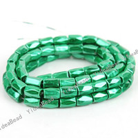 Wholesale 96pcs Faceted Magnetic Hematite Green Spacers Bead Fit Bracelets Necklace DIY