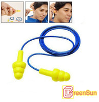 Wholesale 30pcs M EAR Noise Reduction Ear Plugs Soft Earplugs Corded Durable Reuse