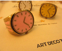 Band Rings Women's Alloy 2012 Fashion Jewelry Enamel Alloy Antique Clock Ring Retro Watches Rings Assorted Pretty Girl Gift