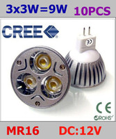 Wholesale 9W x3W LED LED ENERGY SAVING DOWN LIGHT Warm white V MR16 GU5 GLOBE led bulbs lighting