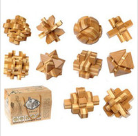 lock box - DIY Luban Kongming Wooden Lock Educational Assembly Puzzle Toy set of with gift box