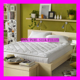 Wholesale 2 M King Queen Handmade Silk Mattress Pure Silk filled Topper for Summer