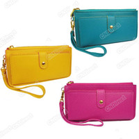 Wholesale 2012 Wallet Envelope Purse Clutch Hand Bag HOT Fashion WOMEN PU Leather Handbags Totes Agood