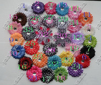 Wholesale 800PCS Inch Baby Crystal Daisy Flower Hair Bow Clip Girl Gerbera Flowers Inch Hair Clips