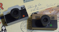 antique wood camera - Wooden vintage Antique quartet Stamps seal diary carved gift craft toy camera shape creative