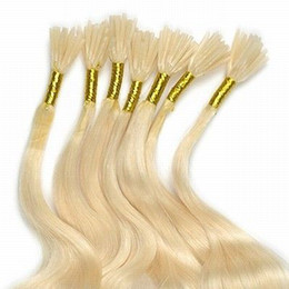 Wholesale HOT S quot quot Stick I tip Remy Human hair extensions lightest blonde g per strand beads
