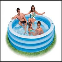 Wholesale Intex Inflatable Yard Outdoor Crystal Blue Swimming Kiddie Kids Paddling Pool swimming pool baby