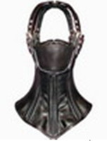 Wholesale leather pvc bondage restraint Hood with blindfold beautiful full mask sex toy