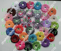 Wholesale 4000PCS Inch Baby Crystal Daisy Flower Hair Bow Clip Girl Flowers Inch Hair Clips