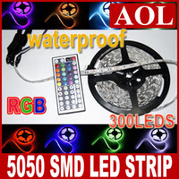 Advertisement ribbon strip - 5m LED Strips SMD RGB LED light ribbon Waterproof with free keys IR Remote