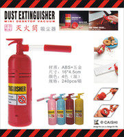Wholesale FWholesale Table Desktop MINI Dust Vacuum Cleaner Fire Extinguisher Shape Debris Clean