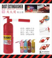 bagless hand vacuum - FWholesale Table Desktop MINI Dust Vacuum Cleaner Fire Extinguisher Shape Debris Clean