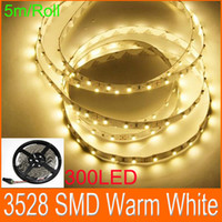 Wholesale LED Flexible Light StripS Warm white SMD LED flat rope light LED No Power adapter m