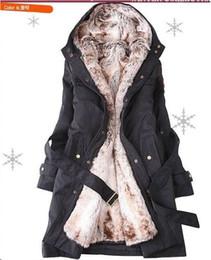 Wholesale 2014 Artificial Fur coats Lining Winter Warm Woman Long Black Cream Colored S M L XL XXL Upgraded version