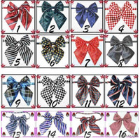 Wholesale Professional bow tie girl ties bow ties bowknot many designs baby girl Accessories cravat pc