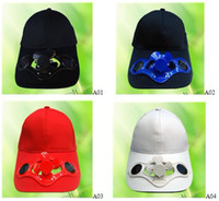 Wholesale Solar cap solar hat solar fan cap with switch battery min order