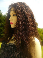 Wholesale SILK Top Black India Remi Remy Human Hair FULL Lace Wig Wigs quot Jerry curl Custom made weeks