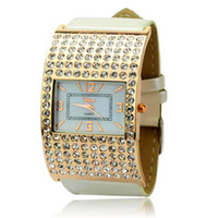 Wholesale Graceful Rhinestone Square MOST POPULAR NEW FAB LUXURY ZIRCON EXQUISITE WOMAN BANGLE WATCH