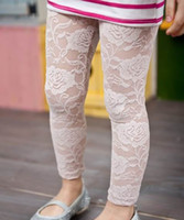 Wholesale Children legging girl lace legging for summer capri pants cropped trousers girl clothes