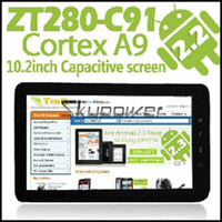 Wholesale 10 quot ZT C91 Android Tablet PC Cortext A9 GHz GB GB HDD Capacitive Camera Wifi Flash
