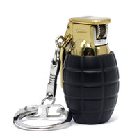 Wholesale MINI GRENADE SHAPED LIGHTERS Key Chain Windproof gas Lighter colors Creative gift