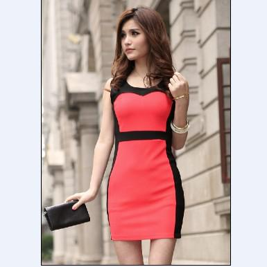 2012 Petite Women&39s Dresses Round Neck Sleeveless Ladies Dress ...