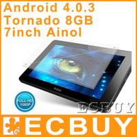 Wholesale Ainol Novo Tornados quot Capacitive screen Tablet PC ELF II Aurora Adroid GB GB