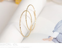 Wholesale Fashion Hollow Hoop Earrings Personalized Bamboo Pattern Large Circle Earring women pair